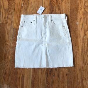 J.Crew White Jean Skirt